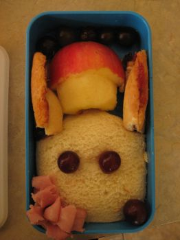 rabit bento (My actual first one, lol) by MonnieBiloney