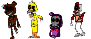 Dismembered - Dismantled Characters by FNAFplayer2016