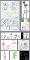 Undertale sketches compilation. by 13-Lenne-13