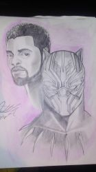 black Panther sketch by ruga-rell