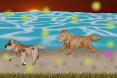 Racing Fireflies- Quest by Luna-puppy