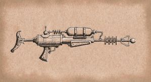 Steampunk Carbine Raygun by rsandberg