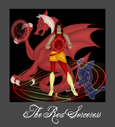 +Keverynn+ The Red Sorceress by purenightshade