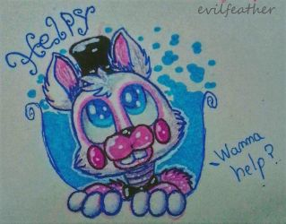 [FNAF6|TA] Helpy by evilfeather