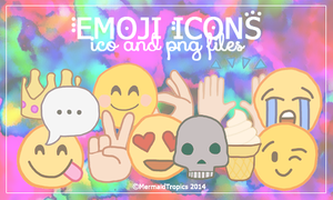 Emoji Icons .ico and .png by MermaidTropics