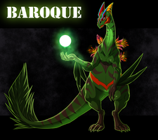 Baroque the Sceptile by blueharuka