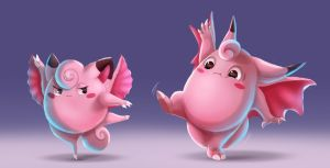 Pokemon - Clefairy line