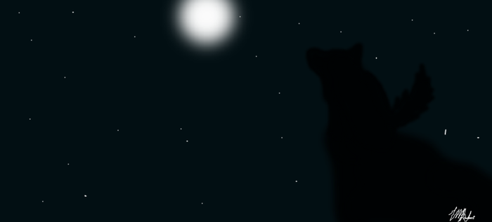 Wolf Howling in the moonlight by joeycow
