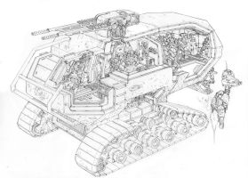 Crayven Command APC cross-section(WIP) by PenUser