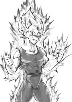 DB Sketch 6 - Majin Vegeta by Tara-Phoenix