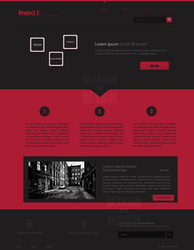 Project E - Web Layout by DeemahDesign