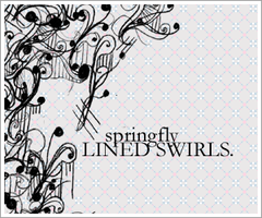 Lined Swirls brushset by SaltedPanda