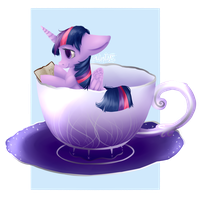 Pony in a Teacup: Twilight Sparkle by EmilieArts