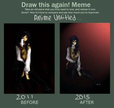 BEFORE AND AFTER MEME: Anime Untitled... by yashigirl09