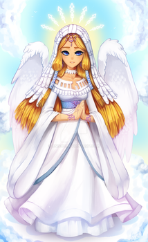 art trade -- Goddess Hylia by onisuu