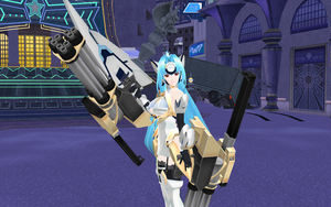 [MMD] KOS-MOS ver.4 + weapon (download) by Darknessmagician