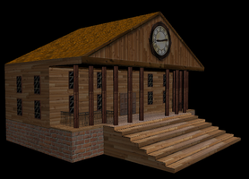 3D Town hall by Mike-Obee-Lay