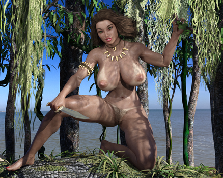 Cavewoman 2.0 Redux by Nathanomir