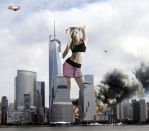 Giantess Candice Swanepoel - Skyscraper Rivalry by GiantessStudios101