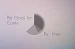 Pie Clock for Conky by 1inux