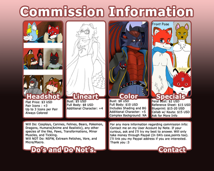 Noah's Commission Info: 2014 by MaximusEXE