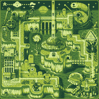 Super Mario UFO Land by andylittle