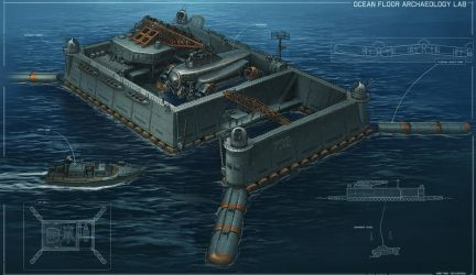 Ocean Floor Archealogy Lab concept by martydesign