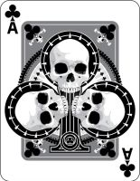 Skulled Aces of Clubs by crackmatrix