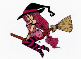 Broomsticks Colored by Maiko-Girl