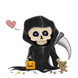 Lil Grim's Trick or Treat by InsaneAngelArt