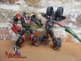 transformers customs gobots turbo by puticron
