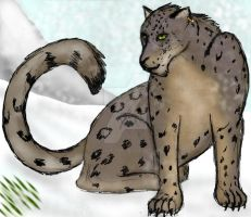 Vane the snow leopard by Little-leopard