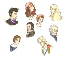 Les Miserables Characters by TheRandomAnchovy