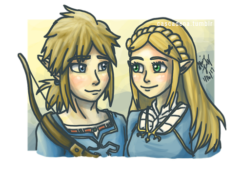 Link and Zelda: BotW by Cascadena