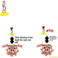 Minion Cows with their body parts off. by Mario1998