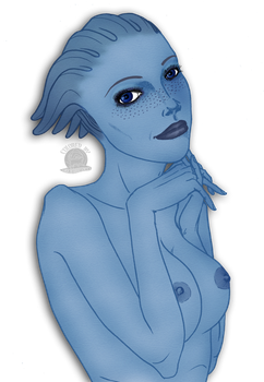Liara Nude by Blackmoonrose13