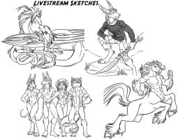LiveStream Sketches 2 by lady-cybercat