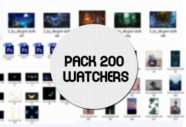 [ SHARE ] PACK 200 WACTHERS by DKujinl