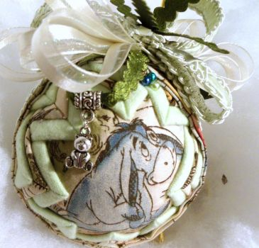 Eeyore handmade quilted ornament by Chrissie1370