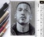 Punisher sketchcard by whu-wei