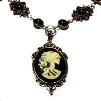 Steampunk Goth Necklace by CatherinetteRings