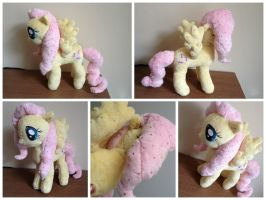 Crystal Empire Fluttershy Plush by laurilolly-crafts