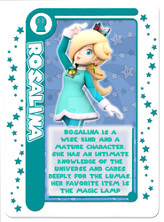 Mario Party Card Game: Rosalina Character Card by Assassannerr