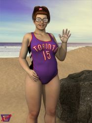 Beth's Raptors Swimsuit by ImfamousE
