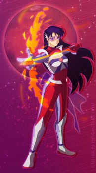 Futuristic Sailor Mars by Morigalaxy