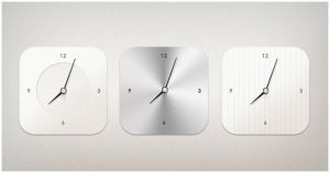 Modern Clock by PSDchat