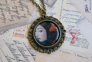Goldfish Geisha Necklace by MonsterBrandCrafts