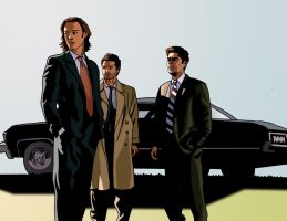 Supernatural Trinity by deanfenechanimations