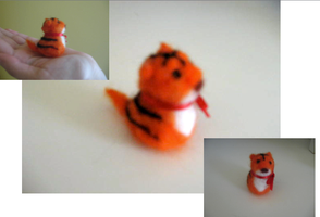 Lil' Needle Felted Tiger by AutumnOwl4