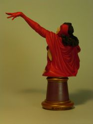 Scarlet Witch Bust - Back View by DaVinci41